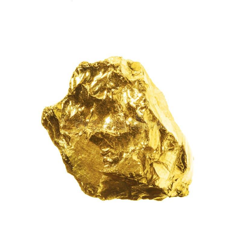 Ένας χρυσός απομονωμένος στο άσπρο υπόβαθρο στοκ εικόνα με δικαίωμα ελεύθερης χρήσης