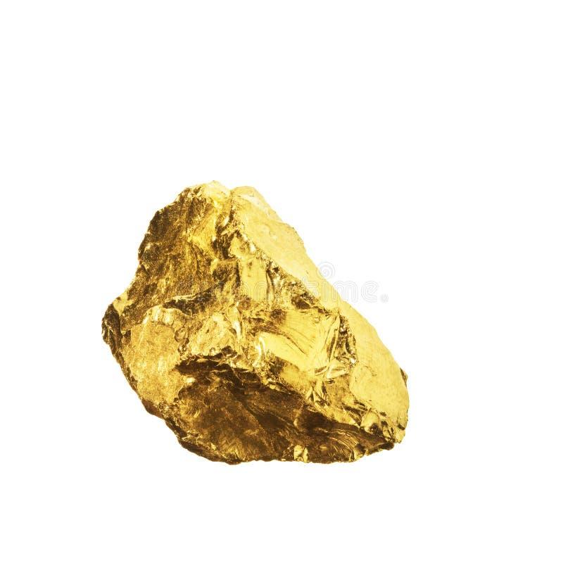 Ένας χρυσός απομονωμένος στο άσπρο υπόβαθρο στοκ φωτογραφία με δικαίωμα ελεύθερης χρήσης