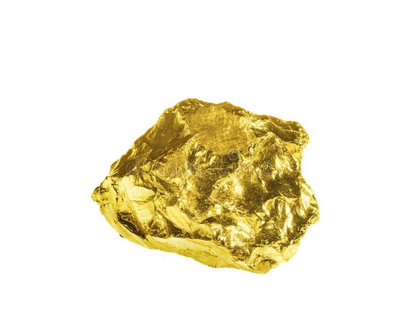Ένας χρυσός απομονωμένος στο άσπρο υπόβαθρο στοκ φωτογραφίες