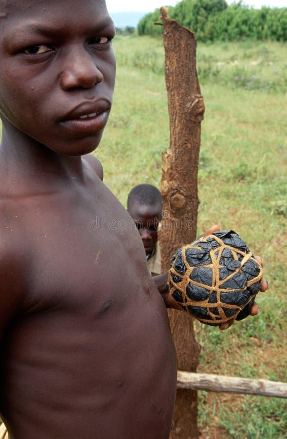 Ένας χωρικός Karamojong στην Ουγκάντα. στοκ εικόνες
