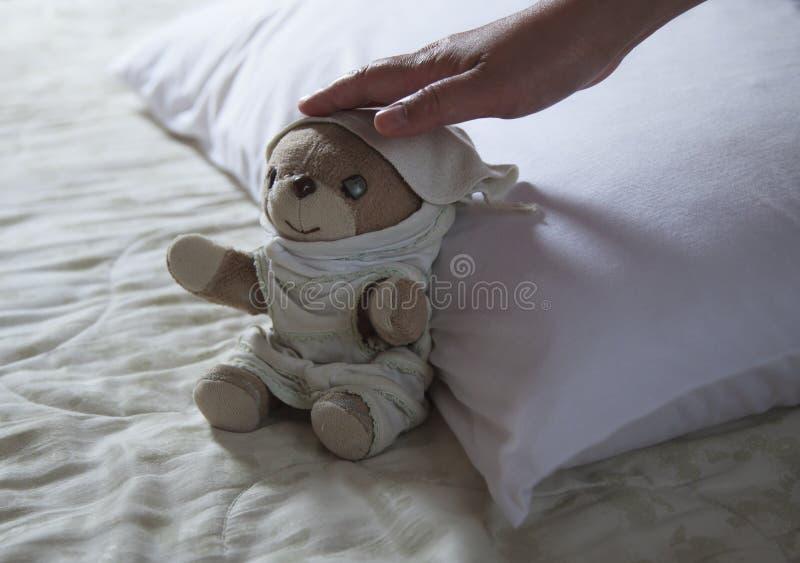Ένας ύπνος teddy αντέχει στοκ εικόνα