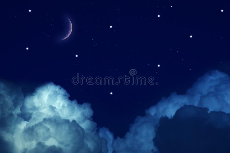 έναστρα αστέρια νύχτας φεγ&g στοκ εικόνα