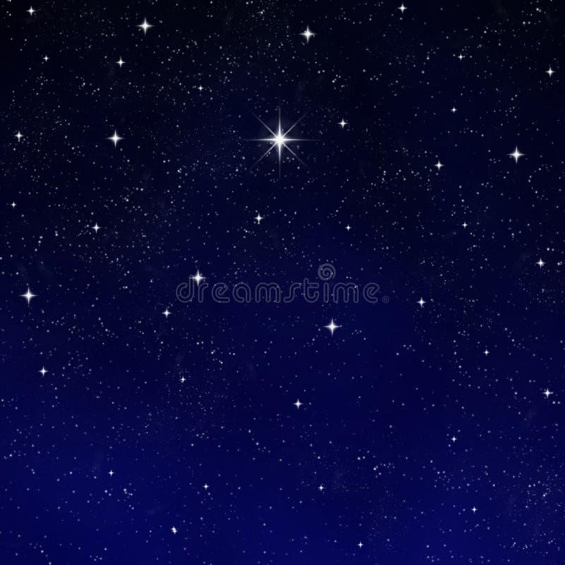 έναστρη επιθυμία αστεριών νυχτερινού ουρανού απεικόνιση αποθεμάτων
