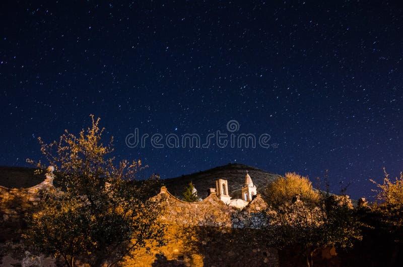 Έναστρη νύχτα στη πόλη-φάντασμα 3 στοκ φωτογραφία