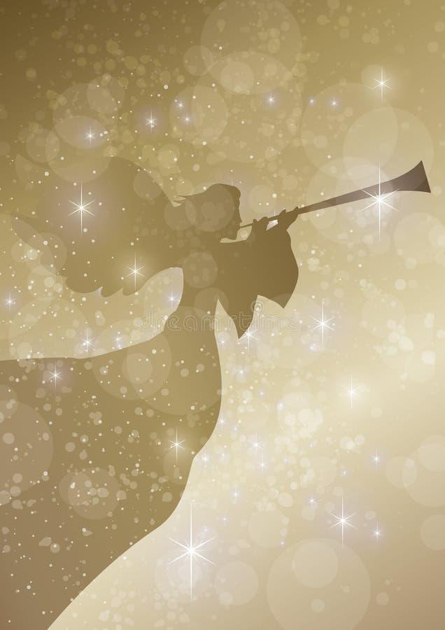 Έναστρος ανακοινώστε τον άγγελο ελεύθερη απεικόνιση δικαιώματος