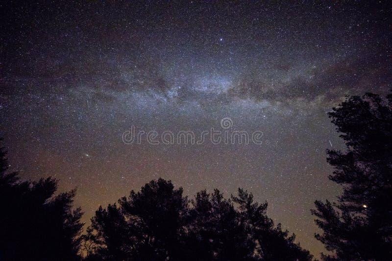 Έναστρος ουρανός με το γαλακτώδη τρόπο στοκ φωτογραφία με δικαίωμα ελεύθερης χρήσης