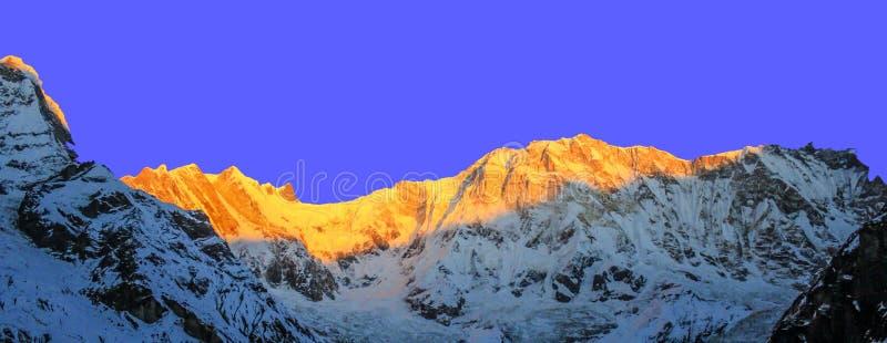 Έναστρος ουρανός πέρα από το στρατόπεδο βάσεων Machhepuchare και Annapurna - Νεπάλ, Ιμαλάια στοκ εικόνες με δικαίωμα ελεύθερης χρήσης