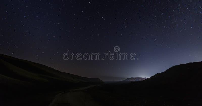 Έναστρος ουρανός στο πέρασμα Shamakhi στοκ φωτογραφίες με δικαίωμα ελεύθερης χρήσης