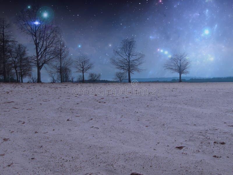 Έναστρο υπόβαθρο Premade νύχτας στοκ εικόνα με δικαίωμα ελεύθερης χρήσης