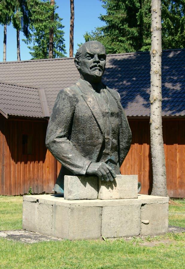 Ένα άγαλμα Λένιν στο σοβιετικό πάρκο στοκ φωτογραφία με δικαίωμα ελεύθερης χρήσης