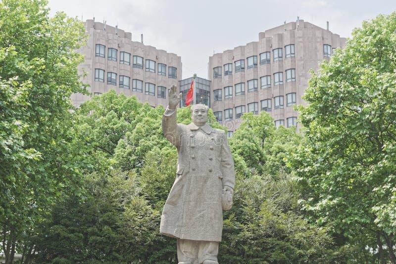 Ένα άγαλμα του προέδρου MAO στο κινεζικό πανεπιστήμιο στοκ φωτογραφία με δικαίωμα ελεύθερης χρήσης