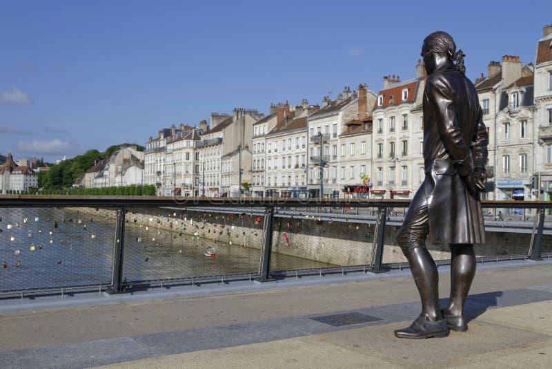 Ένα άγαλμα στο Pont Battant στοκ φωτογραφία με δικαίωμα ελεύθερης χρήσης