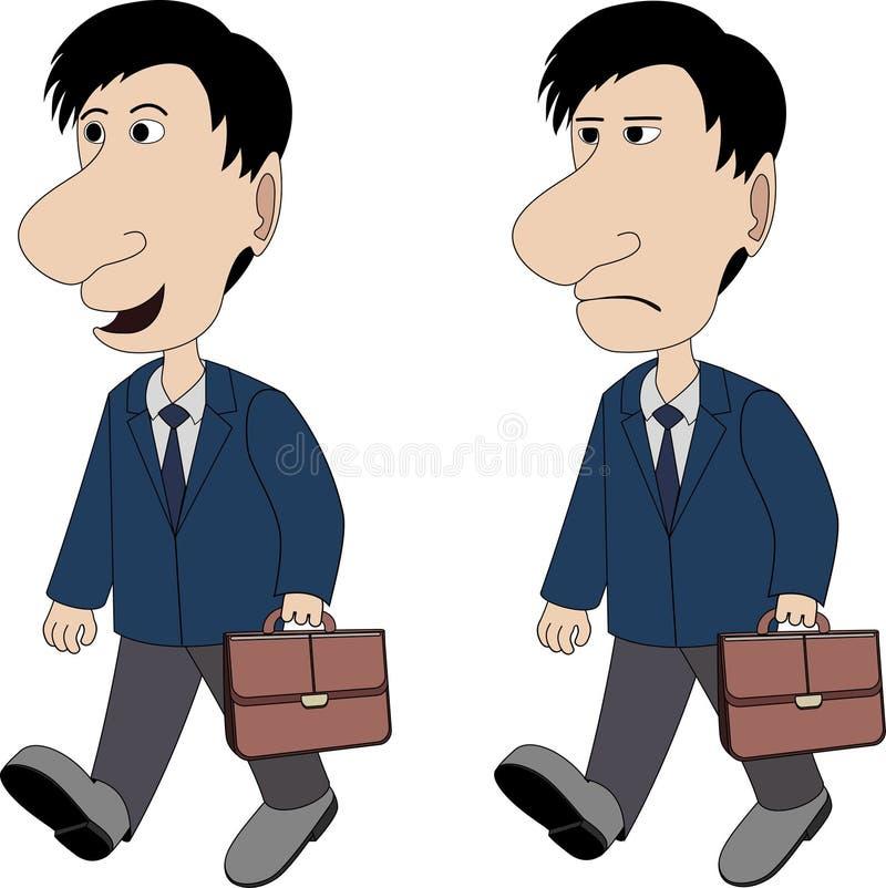 Ένα άτομο με έναν χαρτοφύλακα απεικόνιση αποθεμάτων