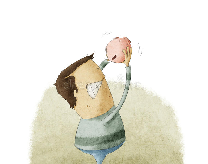 Download Να εκκενώσει έξω το Piggybank Απεικόνιση αποθεμάτων - εικονογραφία από πρόσωπο, οικονομία: 30170692