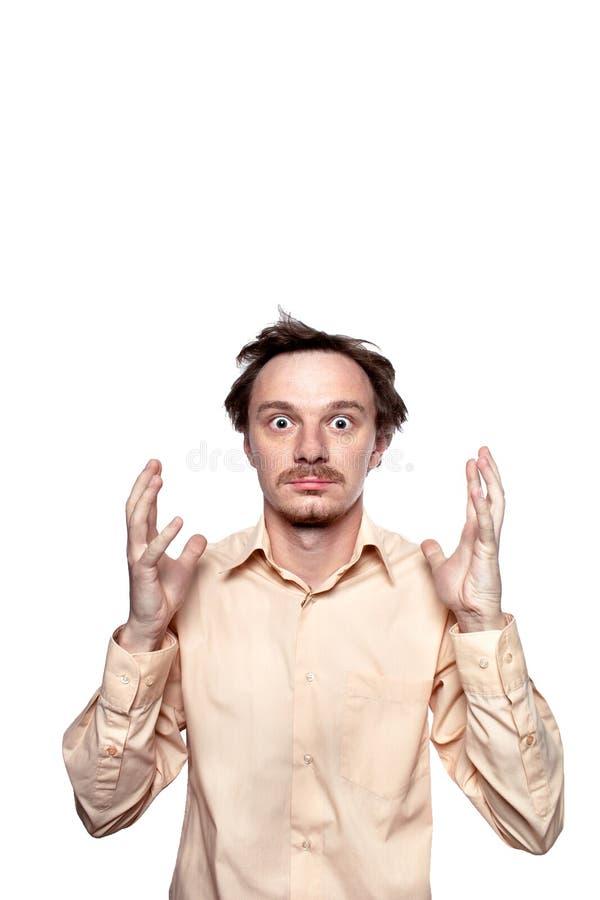 Ένα άτομο σε μια κατάσταση του κλονισμού στοκ εικόνες