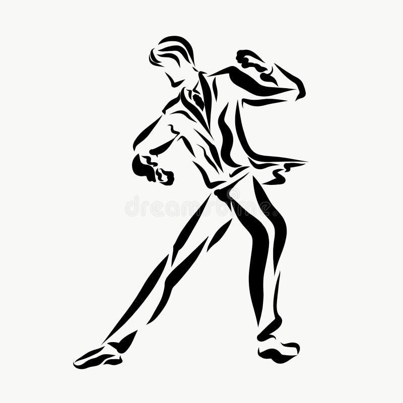 Ένα άτομο στα αριστοκρατικά ενδύματα χορεύει μόνο απεικόνιση αποθεμάτων