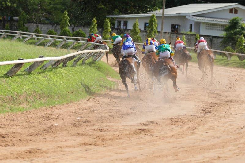 Ένα άλογο κούρσας και jockey σε έναν αγώνα αλόγων στοκ φωτογραφίες με δικαίωμα ελεύθερης χρήσης