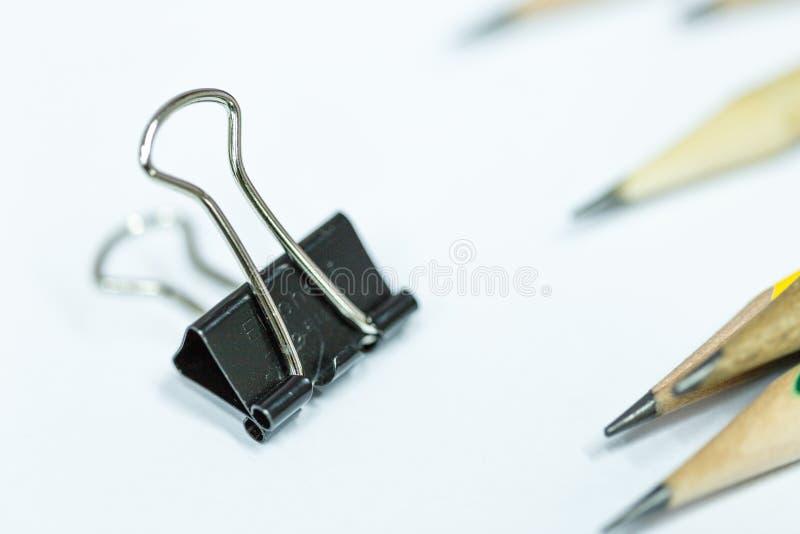 Ένα έγγραφο συνδετήρων έτοιμο για χρήση στοκ φωτογραφία