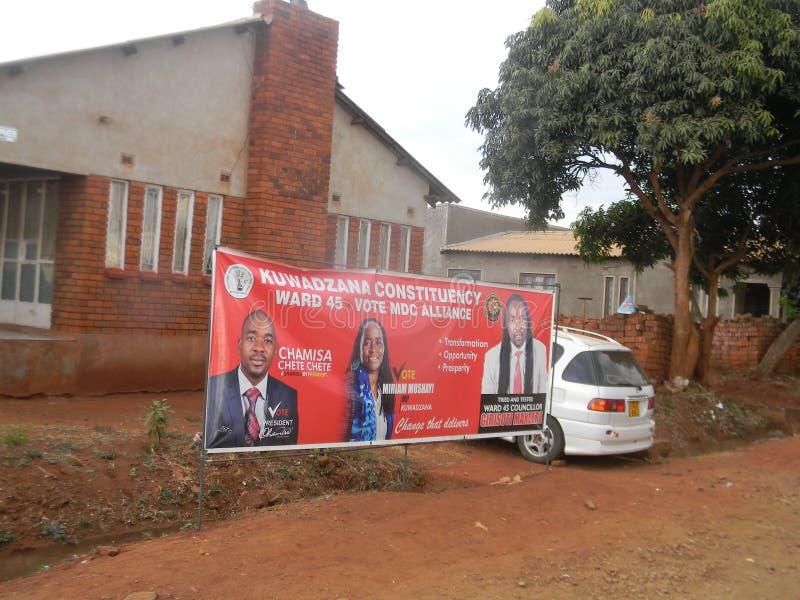 Ένα έμβλημα του κόμματος συμμαχίας αντίθεσης MDC στη Ζιμπάμπουε στοκ εικόνες