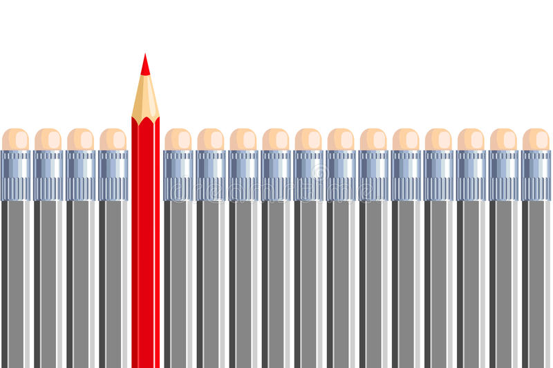Ένα ένα άλλο μολύβι σε κάποιο άλλο γκρίζο. διανυσματική απεικόνιση