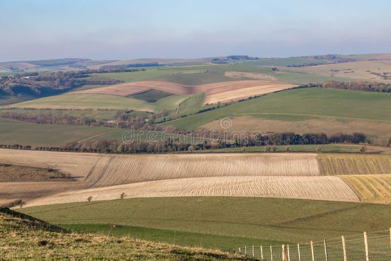 Ένα αγροτικό τοπίο του Σάσσεξ στοκ φωτογραφία