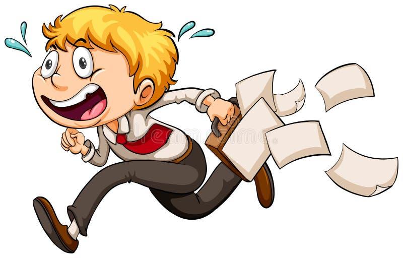 Ένα αγόρι σε μια βιασύνη διανυσματική απεικόνιση