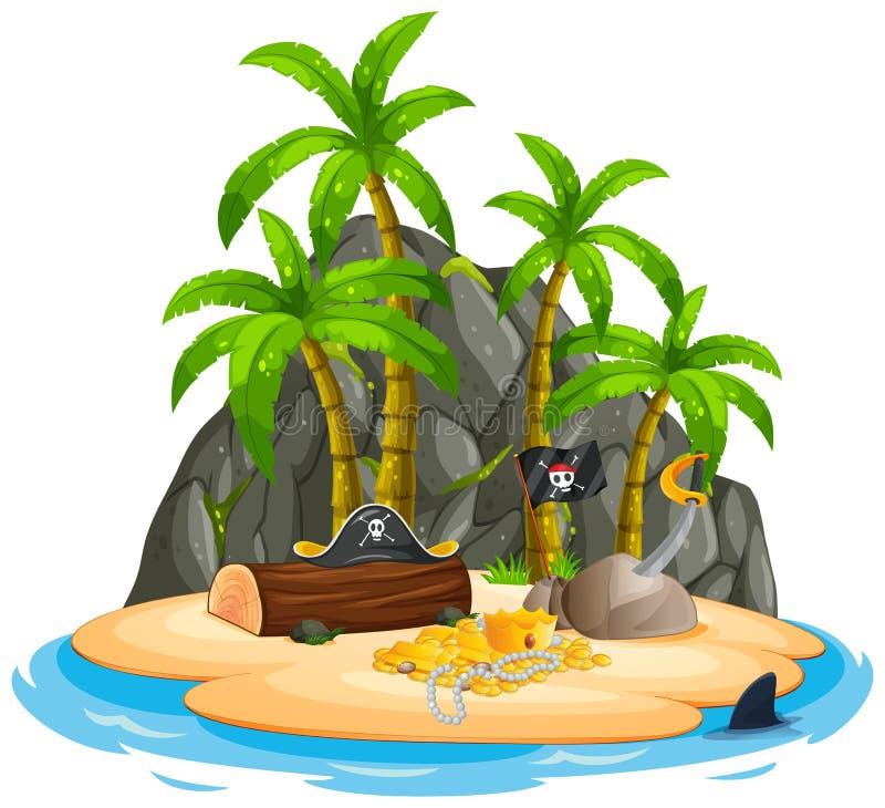Ένα απομονωμένο νησί πειρατών απεικόνιση αποθεμάτων