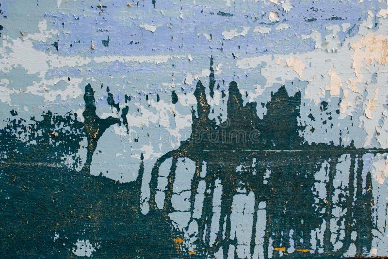Ένα αρχαίο υπόβαθρο υπό μορφή ξύλινης σύστασης με ένα shabby ξεπερασμένο χρώμα των διαφορετικών χρωμάτων Εκλεκτής ποιότητας επίστ στοκ φωτογραφίες