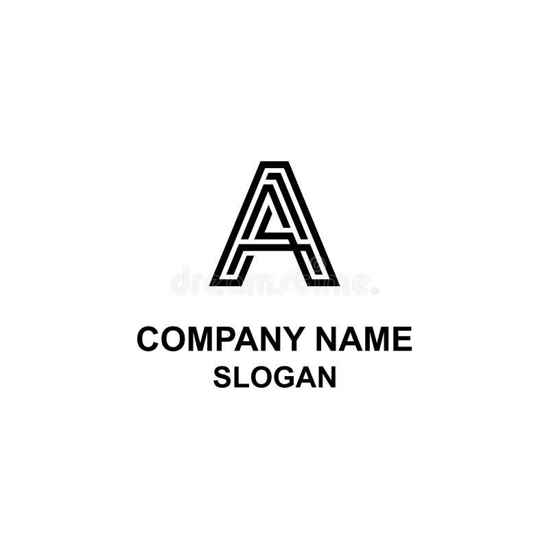 Ένα αρχικό λογότυπο επιστολών, που απομονώνεται στο άσπρο υπόβαθρο απεικόνιση αποθεμάτων