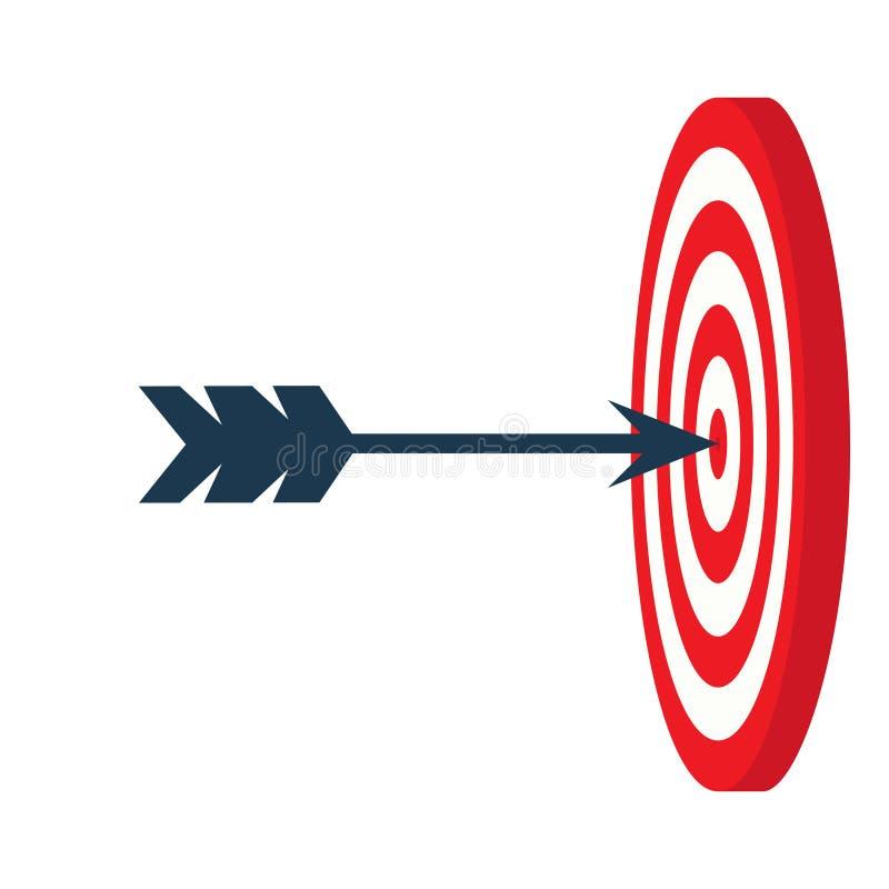 Ένα βέλος είναι στο κέντρο ενός dartboard να είστε επιλεγμένος άνθρωποι στόχος έννοιας κεντρικών κύκλων αποστολή πλήρης, επιχειρη απεικόνιση αποθεμάτων