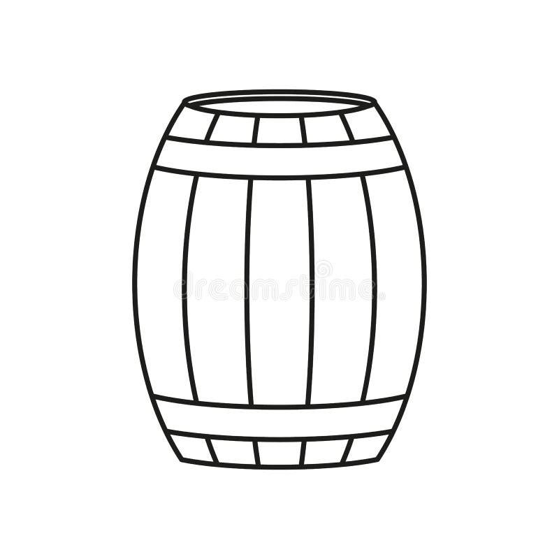 Ένα βαρέλι του εικονιδίου κρασιού ή μπύρας απεικόνιση αποθεμάτων