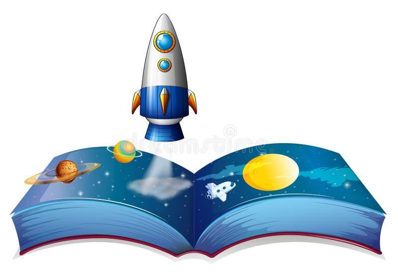 Ένα βιβλίο που παρουσιάζει τον πλανήτη και αεροσκάφη απεικόνιση αποθεμάτων
