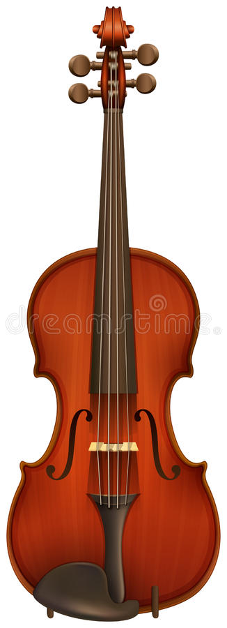 Ένα βιολί διανυσματική απεικόνιση