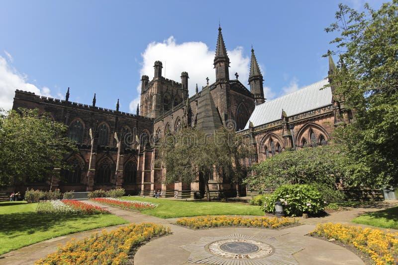 Ένα βλέμμα στον καθεδρικό ναό του Τσέστερ, Τσέσαϊρ, Αγγλία στοκ εικόνες