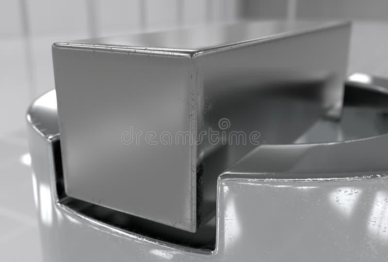 Ένα γαλλικό κλειδί και dap ένα καρύδι και τρισδιάστατη απεικόνιση πλυντηρίων ελεύθερη απεικόνιση δικαιώματος