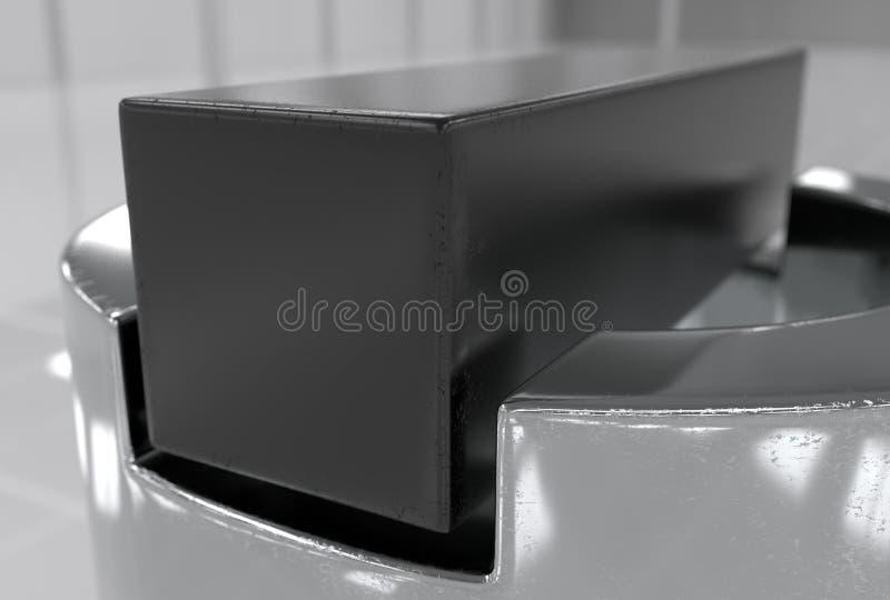 Ένα γαλλικό κλειδί και dap ένα καρύδι και τρισδιάστατη απεικόνιση πλυντηρίων απεικόνιση αποθεμάτων