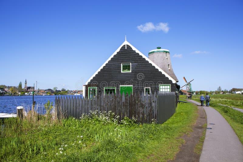 Ένα γραφικό εθνογραφικό χωριό Zanes-Schans netherlands στοκ εικόνα με δικαίωμα ελεύθερης χρήσης