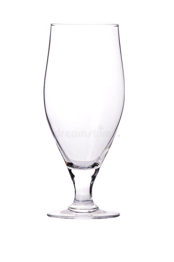 Ένα γυαλί μπύρας που απομονώνεται καθαρό στοκ φωτογραφία
