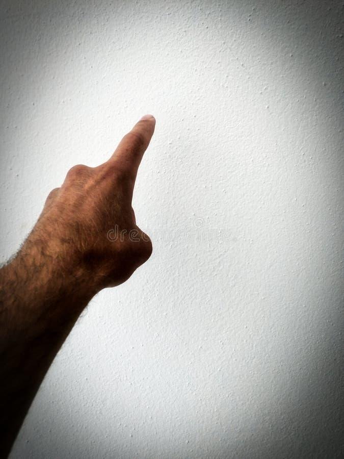 Ένα δάχτυλο, παρουσιάζει ποσό στοκ φωτογραφία με δικαίωμα ελεύθερης χρήσης