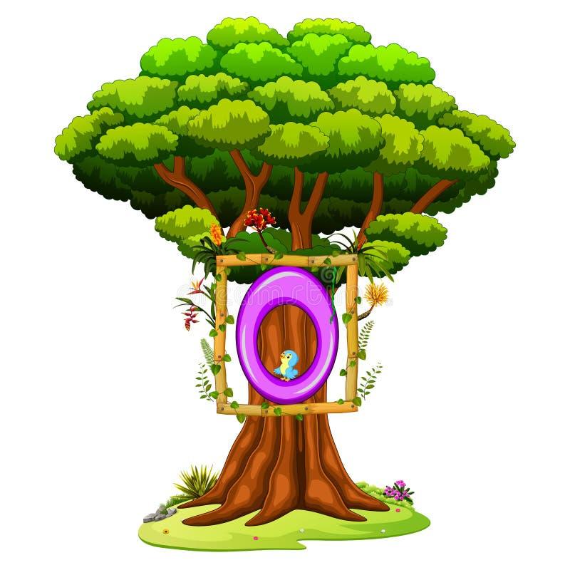 Ένα δέντρο με έναν αριθμό μηδενικά αριθμός για ένα άσπρο υπόβαθρο διανυσματική απεικόνιση