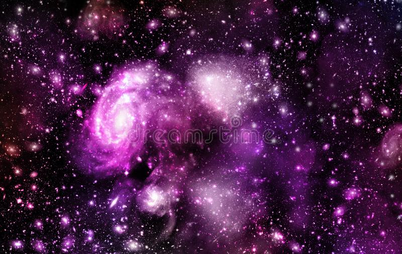 Ένα διάστημα του γαλαξία, ατμόσφαιρα με τα αστέρια στο σκοτεινό υπόβαθρο στοκ φωτογραφία με δικαίωμα ελεύθερης χρήσης