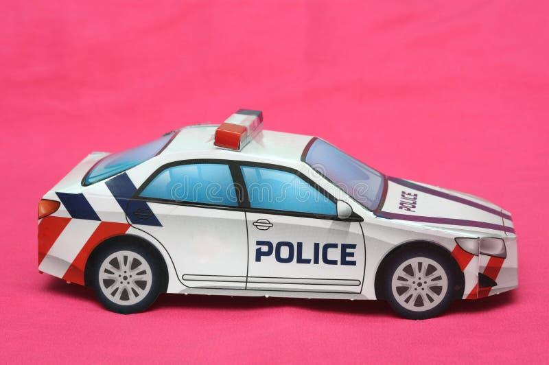 Ένα διπλωμένο έγγραφο περιπολικό αυτοκίνητο αστυνομίας στοκ φωτογραφίες με δικαίωμα ελεύθερης χρήσης