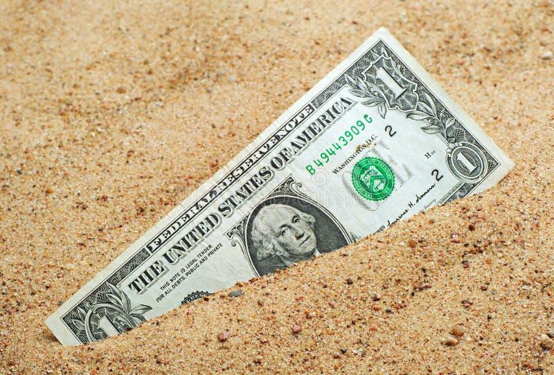 Ένα δολάριο στοκ εικόνα