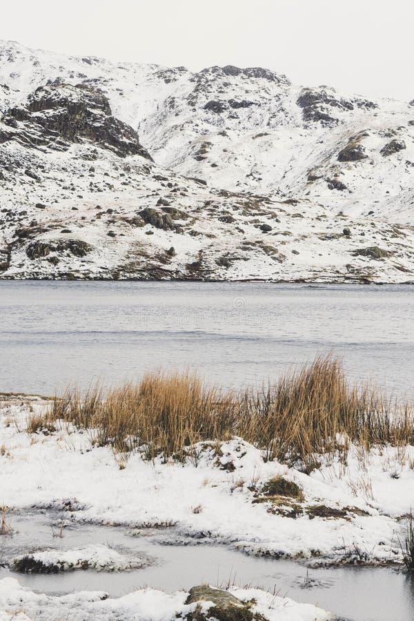Ένα δραματικό χιονώδες τοπίο βουνών στοκ εικόνες με δικαίωμα ελεύθερης χρήσης