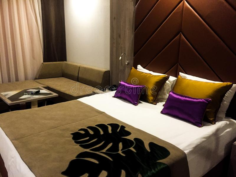 Ένα δωμάτιο ξενοδοχείου στοκ εικόνες