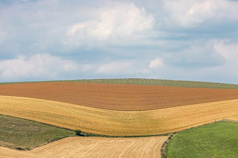 Ένα ειδυλλιακό τοπίο του Σάσσεξ στοκ εικόνες