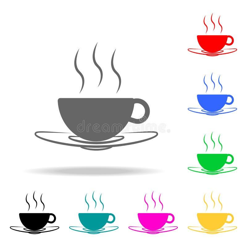 Ένα εικονίδιο φλιτζανιών του καφέ Στοιχεία του φραγμού στα πολυ χρωματισμένα εικονίδια Γραφικό εικονίδιο σχεδίου εξαιρετικής ποιό απεικόνιση αποθεμάτων