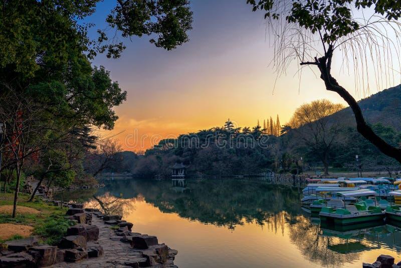 Ένα ειρηνικό απόγευμα στο πάρκο στοκ φωτογραφίες με δικαίωμα ελεύθερης χρήσης