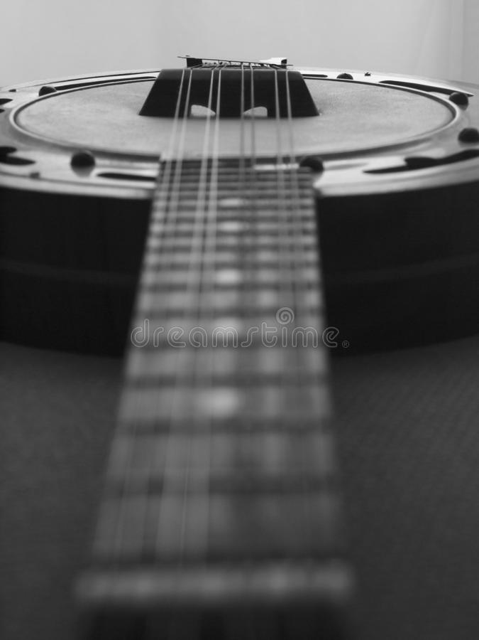 Ένα εκλεκτής ποιότητας μπάντζο - Mandoline στοκ εικόνα