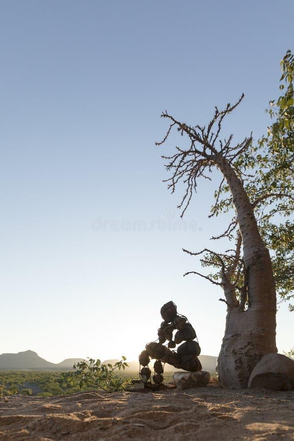 Ένα ενιαίο απομονωμένο πέτρινο άτομο του Kaokoland Μελέτη της ύπαρξης Μάρμαρο Kaokoland Περιοχή Kunene, της Ναμίμπια στοκ φωτογραφίες με δικαίωμα ελεύθερης χρήσης